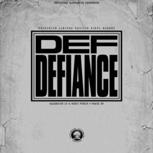 """Def Defiance """"hazardous"""" 2xLP + """"music fusion"""" bonus """"12 limited Bundle white wax"""