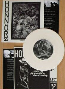 """Honnör SS """"A Question Of Moral Sanity"""" 7inch white vinyl"""