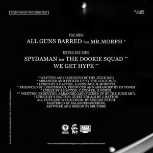 "JUICE MC's ""spydaman/all guns barred"" 7inch grey wax"