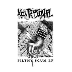 "Kontrasosial ""Filthy Scum EP"" 7inch black wax"