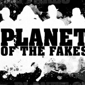 """PLANET OF THE FAKES """"kill-a-man twice/ ignite the mic"""" 7inch clear wax"""
