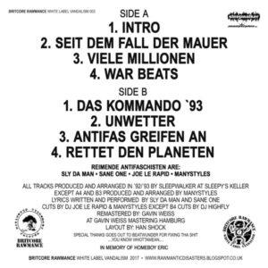 "R.A.F. ""demo '92/'93"" ""12 EP Testpress"