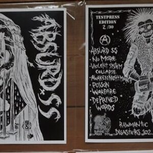 "Absurd SS ""s/t"" ""12 TESTPRESS (Burning Anger 001)"