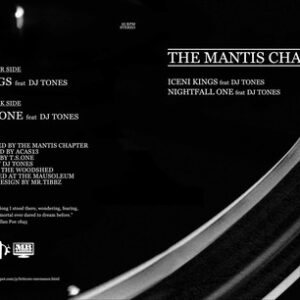 "THE MANTIS CHAPTER ""iceni kings/nightfall one"" 7inch blue wax"