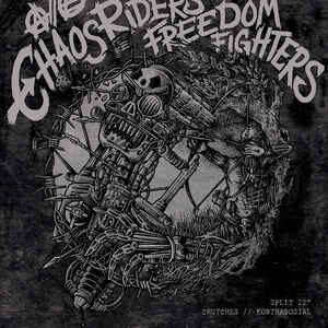 "Crutches / Kontrasosial ‎""Chaos Riders, Freedom Fighters"" 12inch colour wax"