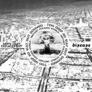 "Earth Crust Displacement / Disease ""Distort Fucking World"" 12inch euro colour wax"