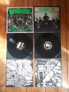 """Appäratus / Svart Ut """"Law Of Ratts…. Supersonik ? / Risken Att Köpa En Splitt Vinylskiva"""" 12inch repress, green wax"""