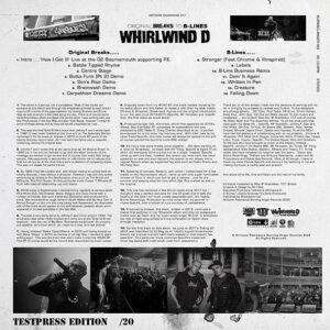 "WHIRLWIND D ""Original Breaks To B-Lines"" LP Testpress LP"