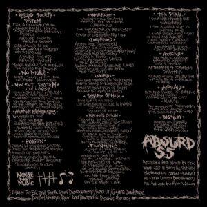 """Absurd SS """"s/t"""" """"12 black vinyl"""
