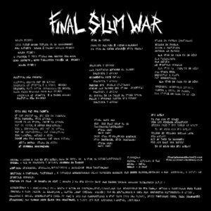 """Final Slum War """"agore fudeu"""" 12inch black vinyl"""