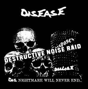 "DISEASE ""DESTRUCTIVE NOISE RAID"" 7inch green wax repress"