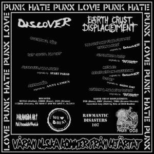 "Discover/Earth Crust Displacement ""split"" 7inch black vinyl"