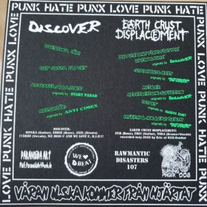 """Discover/Earth Crust Displacement """"split"""" 7inch white vinyl"""