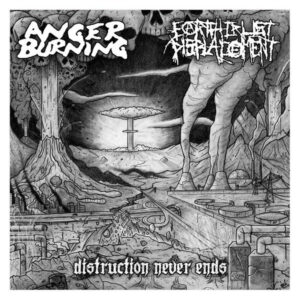"Anger Burning / Earth Crust Displacement ‎""Distruction Never Ends"" 12inch"