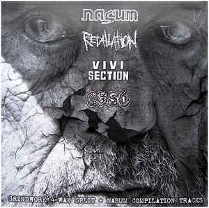 "Nasum / Retaliation / Vivisection / C.S.S.O. ""Grindwork 4-Way Split + Nasum Compilation Tracks"" 12inch"