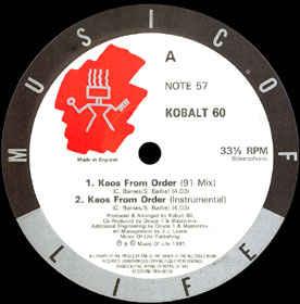 "Kobalt 60 ""Kaos From Order"" 12inch EP"