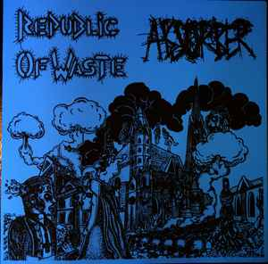 "4 Way Split ""Absorber / Republic Of Waste / Ayperos / Kontrasosial"" 12inch blue cover"