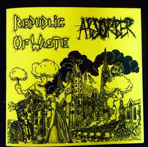 "4 Way Split ""Absorber / Republic Of Waste / Ayperos / Kontrasosial"" 12inch yellow cover"