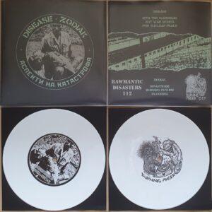 """Disease / Zodiak """"split"""" 7inch white vinyl"""