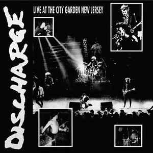 """Discharge """"Live At The City Garden New Jersey"""" 12inch clear vinyl"""